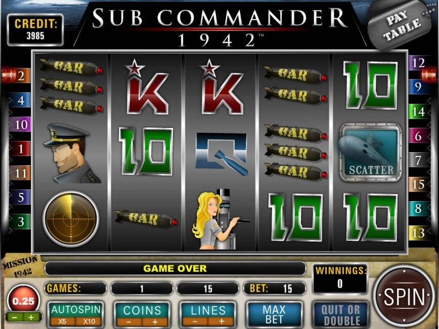 Sub Commander 1942 online free slot