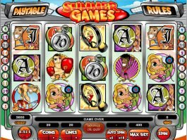 A picture of the casino slot Summer Games online