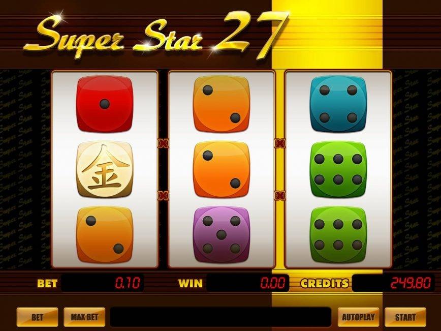 Casino slot machine Super Star 27