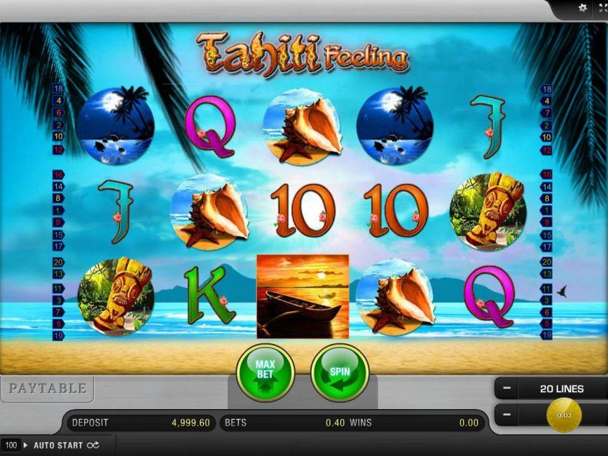 Casino slot machine Tahiti Feeling