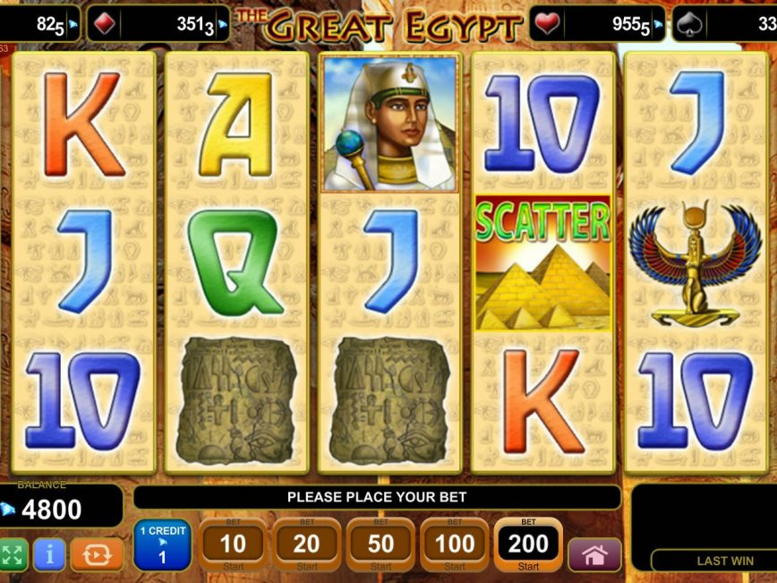 The Great Egypt slot with no registration