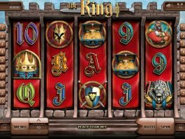 A picture of the slot machine The King