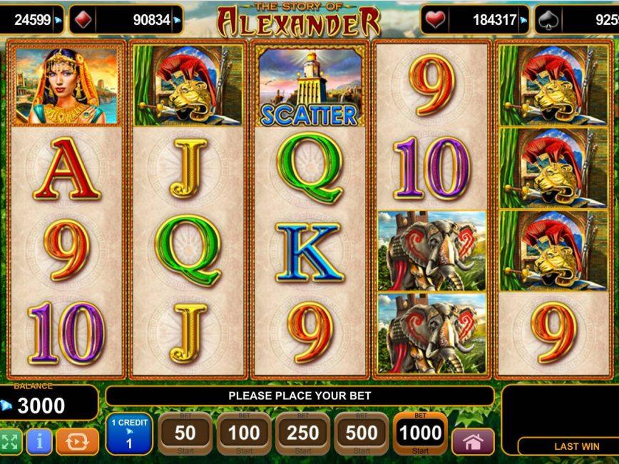 The Story of Alexander casino free slot no deposit