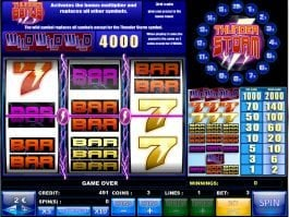 Casino slot machine with no deposit Thunder Storm