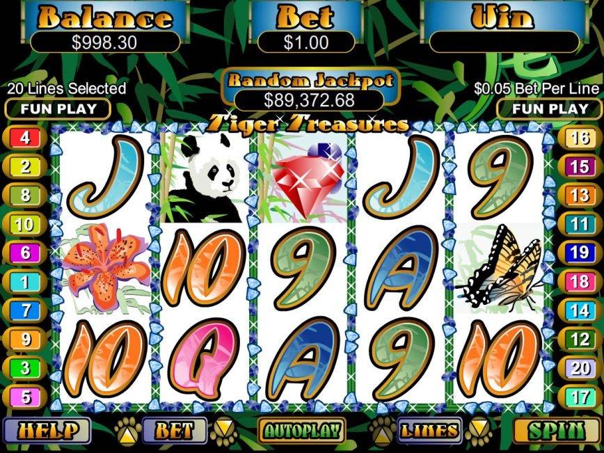 Tiger Treasures online slot machine by RTG