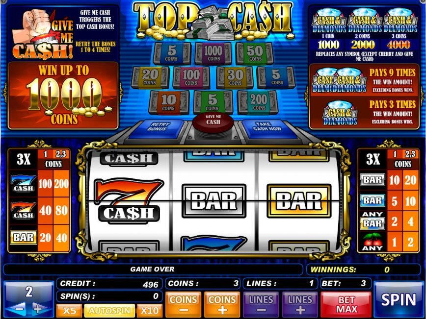 An image of online free game Top Cash
