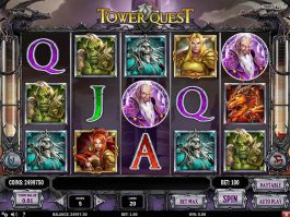 A picture of the Tower Quest online slot