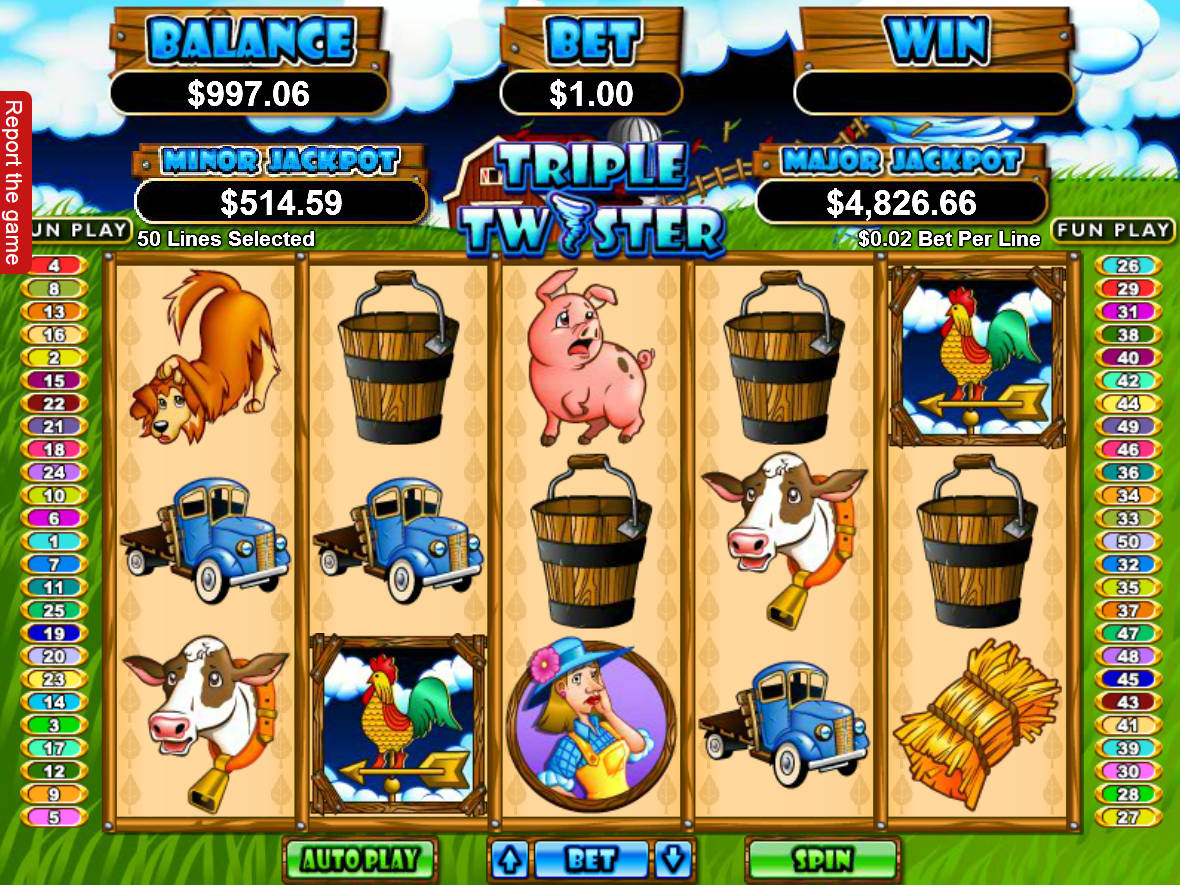 Free Play Slot Machine Triple Twister