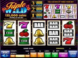 An image of free slot game Triple Wild
