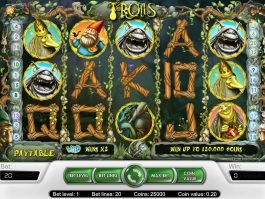 A picture of the free slot game Trolls