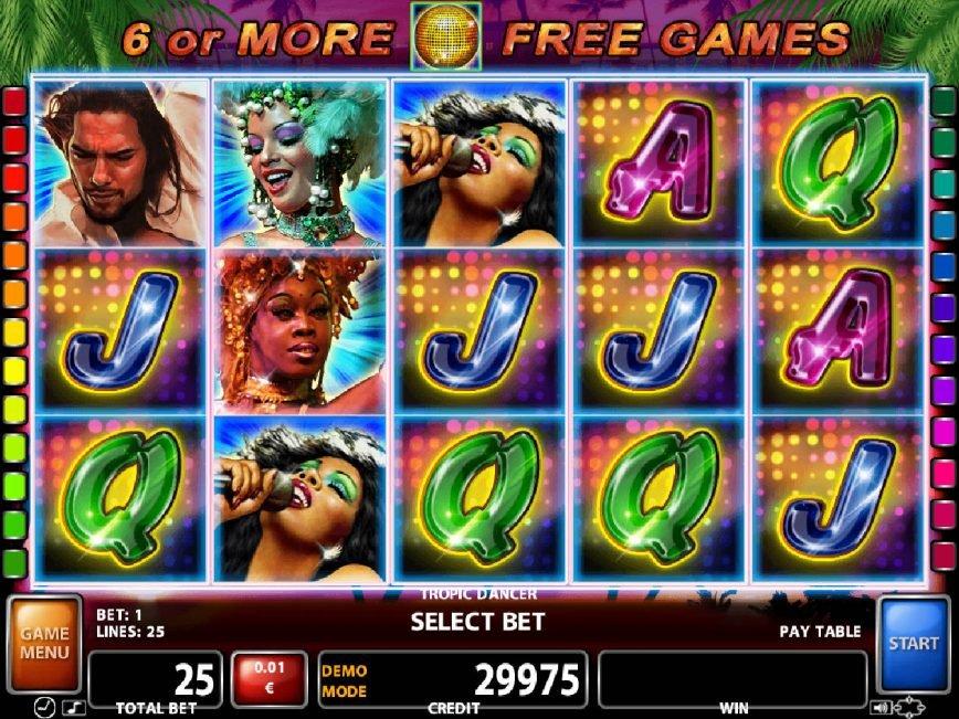 Spin free slot machine Tropic Dancer