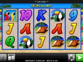 No deposit slot machine Tropical Heat