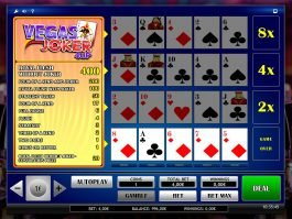 Joker Vegas 4up slot game