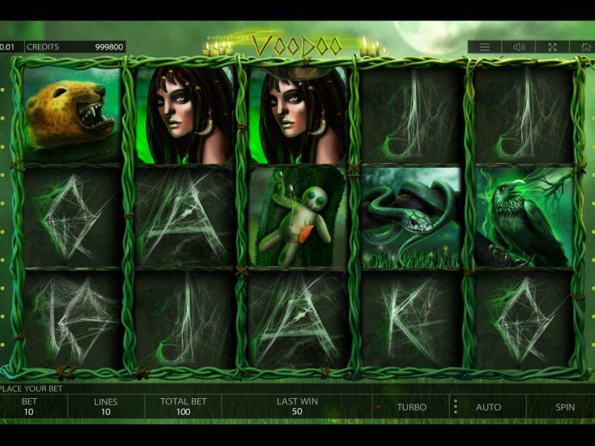 No deposit slot machine Voodoo for free