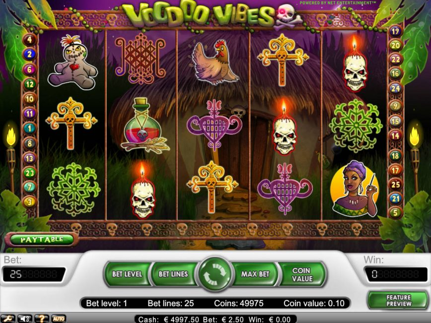 A picture of the online slot machine Voodoo Vibes