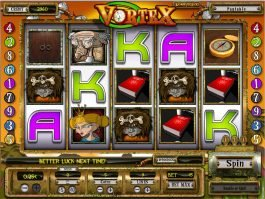 Spin casino slot game Vortex