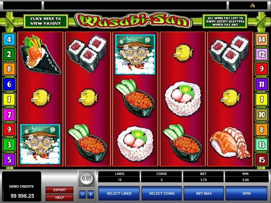 Slot machine Wasabi-San no deposit