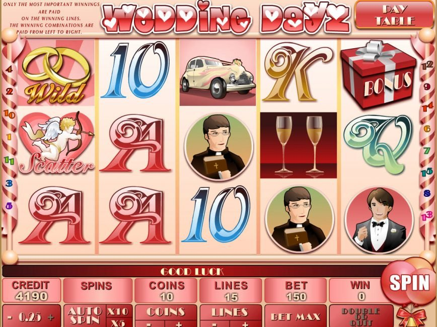 Spin a video slot game Wedding Dayz online