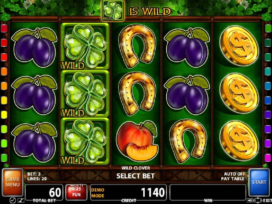 A picture of the slot machine Wild Clover