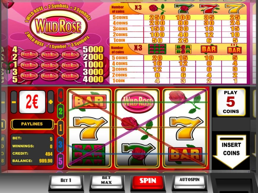 Spin slot game for fun Wild Rose