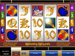 A picture of the casino slot game Winning Wizards