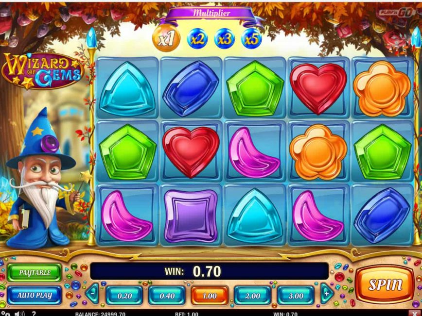 Free slot machine Wizard of Gems