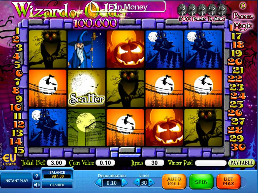 Play Wizard of Odds Slot Online