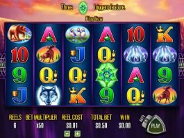 Online casino slot machine Wolf Moon