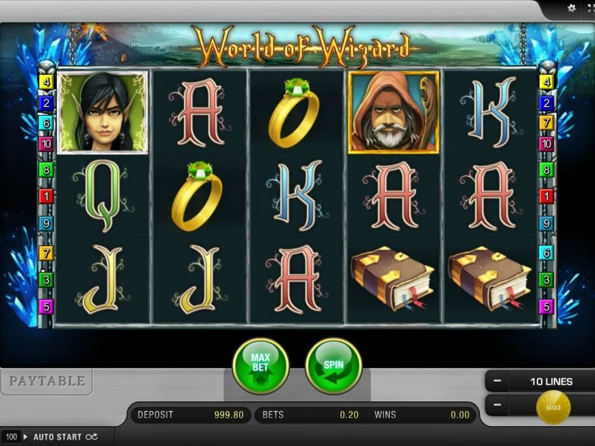 Spin online free slot game World of Wizard