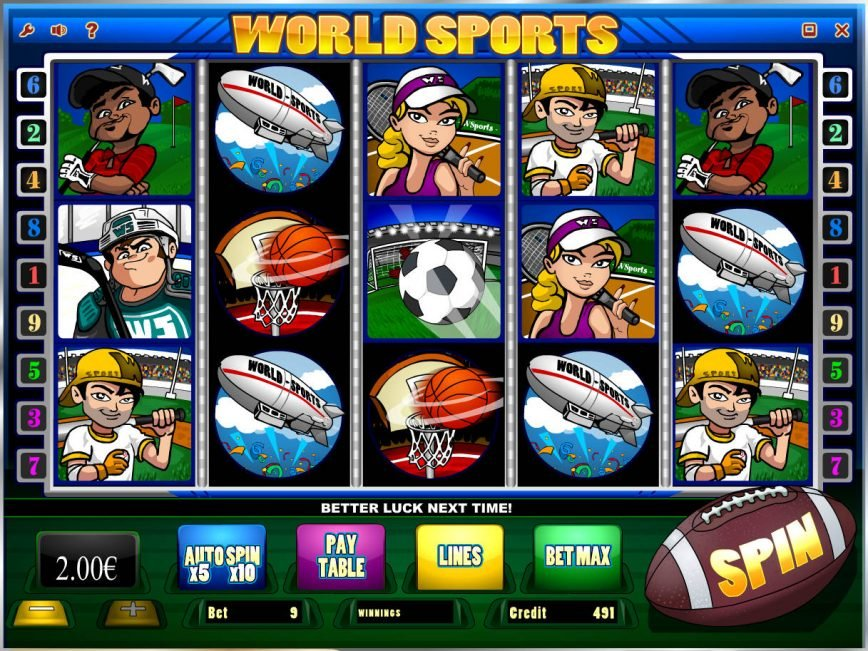 Play online slot game World Sports