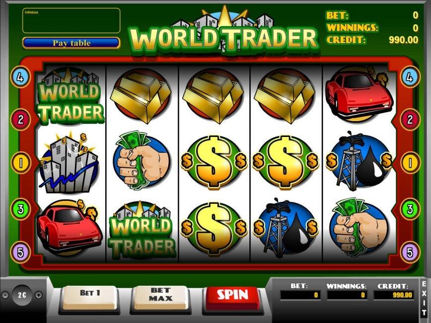 Spin casino slot game World Trader