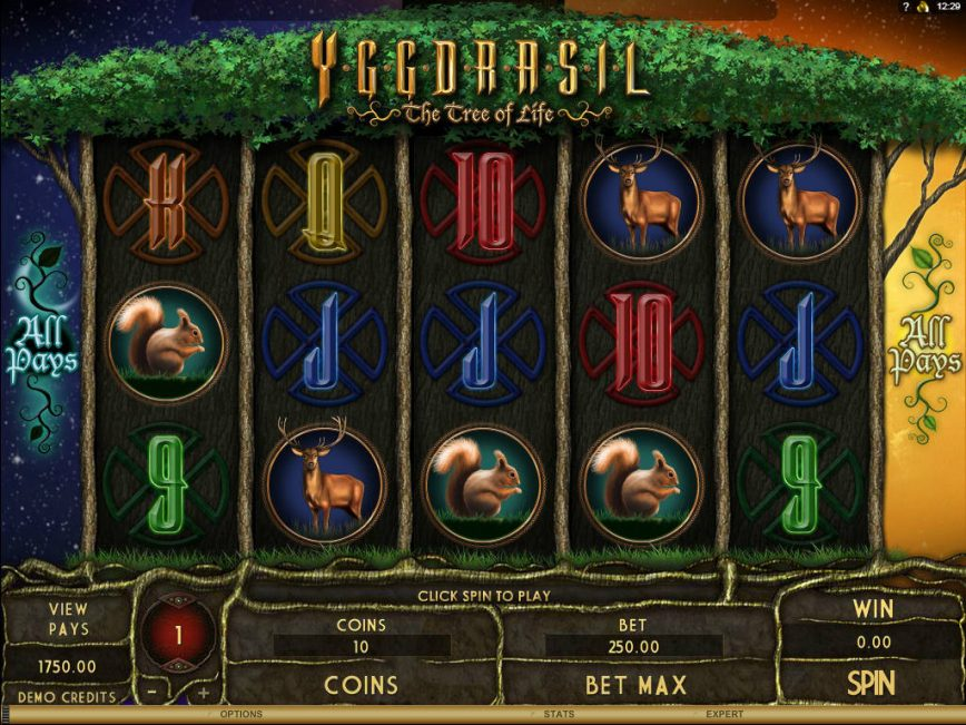 A picture of the online slot game Yggdrasil - The Tree of Life